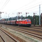 232 093 mit letztem Kohlezug nach Bautzen in Hosena