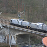293.01 und 293.02 kurz hinter dem Bahnhof Edle Krone und...