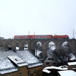 182 017 als S Bahn nach DH auf dem Colmnitzer Viadukt