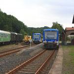 Zugkreuzung in Mulda (Sachsen)