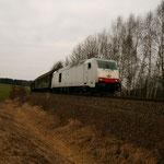 285 105 am Abzweig zur Anschlussbahn