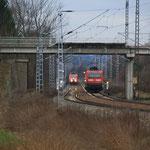 RB und Leerkesselgüterzug in Gärtitz