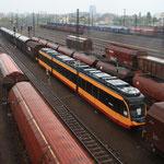 Straßenbahn im Güterbahnhof DF
