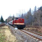 112 331 bei der Ausfahrt aus dem Bahnof Bärenstein
