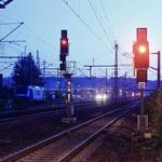 Abendstimmung im Güterbahnhof Pirna