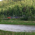 180 mit Kesselzug im Elbtal zwischen Rathen und Wehlen