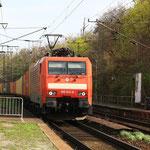 189 011 mit Containergz in Dresden-Cotta