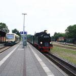 99 4011 und 650 300 in Putbus