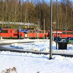 Zwischendurch ein Lokzug aus Zwickau nach DF