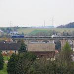 185 642 mit zweitem Schwellenvollzug auf dem Colmnitzer Viadukt