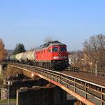 232 665 mit 60954 auf der Muldenbrücke in Nossen