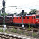 180 017 und 180 020 im Dresdner Hauptbahnhof