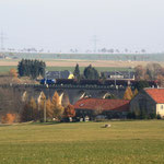 Sonntagnachmittag Viadukt Colmnitz mit 346 003 und Schotterzug