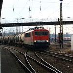 MEG 702 mit Umleitungskesselzug aus Rhäsa in Riesa