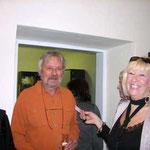 Künstlerin Inge Kreuzer mit Gast