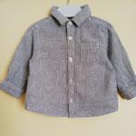 Chemise rayée gris et blanc 9 mois