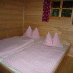 Hüttenurlaub im Bauernbett