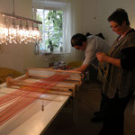 Sommer 2011 - Vorbereitungen für´s Schal weben
