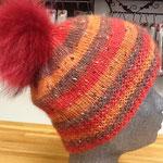 Haube aus 1 Kn. Alpaka-Merino Tweed von Lanartus