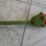 Blume gestrickt und gefilzt