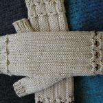 "fingerlose Handschuhe mit Perlen aus 2 Kn. ""Zara"" von Filatura di Crosa"