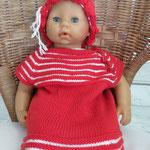 """Babykleidchen mit Sommerhut, gestrickt aus """"Millifili fine"""" von Filatura di Crosa"""