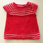 """Babykleidchen, gestrickt aus """"Millifili fine"""" von Filatura di Crosa"""