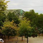 Abenddämmerung an der Hohenzollernbrücke