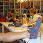"Workshop "" Sockenstricken andersherum"", Mai 2011"