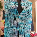 """Stola aus 3 Kn. """"Jaipur Silk"""" von BC Garne"""