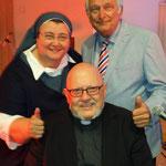 Ökumene live! Sr. Teresa Zukic (kath.); Waldemar Grab (ev.) u. Bill Holler (Freik./FeG).
