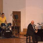 Spontaner Drummer-Einsatz vom großartigen David Drechsel.