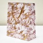 арт. BK1000-B2 Пакет для подарков Мрамор золото/коричневый 32*26*12 см. Оптовая цена 65 руб.