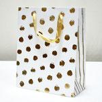 арт. BK985-D2 Пакет для подарков Золотые точки кремовый 32*26*12 см. Оптовая цена 65 руб.