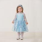 Детский карнавальный костюм Принцесса Эльза, рост 92 см, размер 26, арт. 56764. Комплект: платье, повязка. Цена:1740 руб.