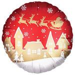"""Фольгированный шар Falali Новогодняя ночь, красный, размер 18"""" #15146. Цена 90 руб."""