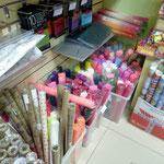 Декоративные материалы: гофробумага (крепбумага), подарочная упаковочная бумага