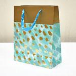 арт. BK998-A2 Пакет для подарков Золотые штрихи бирюзовый 32*26*12 см. Оптовая цена 65 руб.