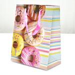 арт. WK-A-644S Пакет для подарков Пончики с блёстками 23*18*10 см. Оптовая цена 45 руб.