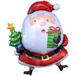 """Фольгированная фигура Anagram Санта с ёлкой, размер 35"""" #27229. Цена 230 руб."""
