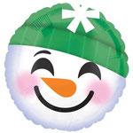 """Фольгированный шар Anagram Смайлик снеговик, размер 18"""" #34041. Цена 115 руб."""