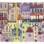 1-20-0747 Конверты Цветные домики, 10 шт. #61357