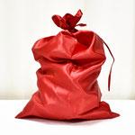 Мешок Деда Мороза красный, сатин. Размер 40*60 см. Стоимость 251 руб.