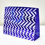 арт. BK1005-D3 Пакет для подарков Абстрактные зигзаги синий 31*41*13 см. Оптовая цена 75 руб.