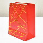 арт. 1411-2М Пакет для подарков Классика Красный с золотым тиснением 18*23*10 см. Оптовая цена 39 руб.