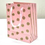 арт. BK985-A1 Пакет для подарков Золотые точки розовый 23*18*10 см. Оптовая цена 45 руб.