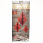 Бумажное украшение Модерн красный 15-20-30 см, 3 шт. Стоимость 146 руб.