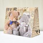 арт. 3259-XXL-WK-A Пакет для подарков Два мишки 50*40*25 см. Оптовая цена 120 руб.