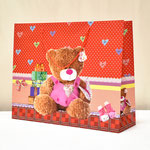 арт. 1401-3XXL Пакет для подарков Плюшевый мишка красный 50*40*15 см. Оптовая цена 110 руб.