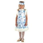 Детский карнавальный костюм Снежинка, рост 116, размер 30, арт. 56774. Комплект: сарафан, ободок. Цена: 945 руб.